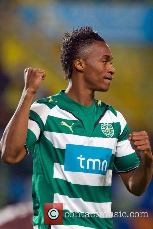 Yannick Djalo from Sporting during the football match...