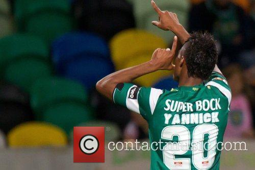 Yannick Djalo during the football match between Sporting...