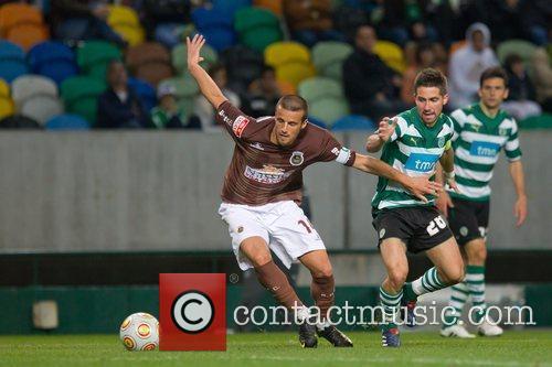 Andre Villas Boas from Rio Ave vies the...
