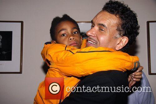 Brian Stokes Mitchell and his son Ellington The...