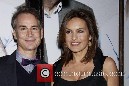 Geoffrey Nauffts and Mariska Hargitay Opening night of...