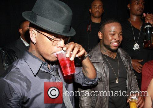 Singer Pleasure P and Ne-Yo Ne-Yo's VMA party...