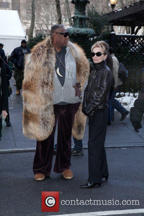 Andre Leon Talley and Lee Radziwill