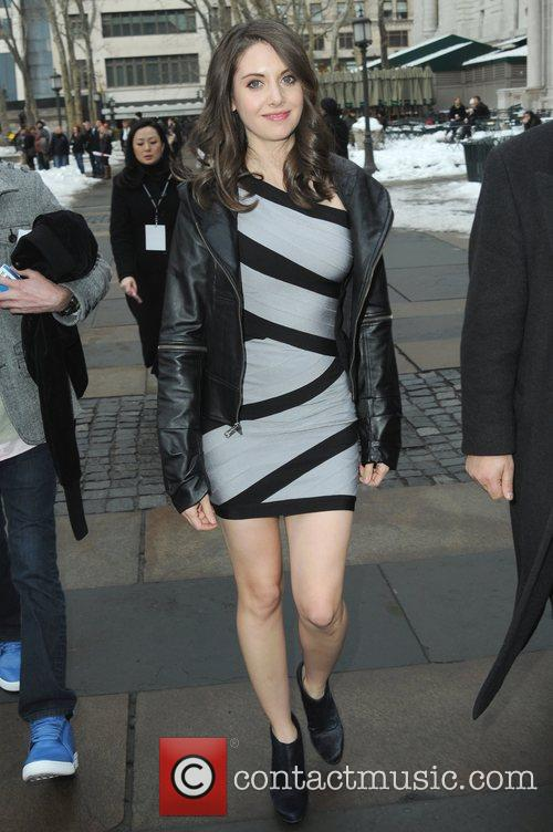 Alison Brie  Mercedes-Benz IMG New York Fashion...