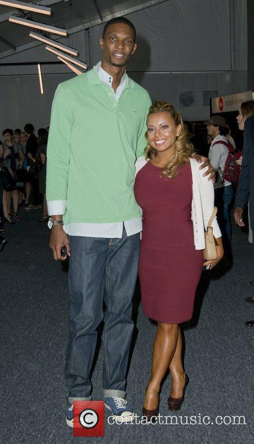 Chris Bosh and Adrienne Williams  Mercedes-Benz IMG...