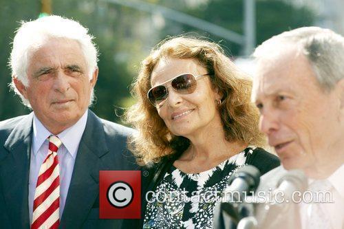 Ted Forstmann, Designer Diane von Furstenberg and Mayor...