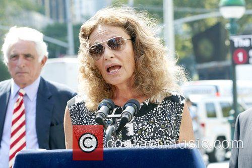 Designer Diane von Furstenberg  speaks at a...
