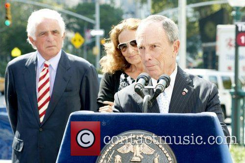 Mayor Michael Bloomberg speaks at a press conference...