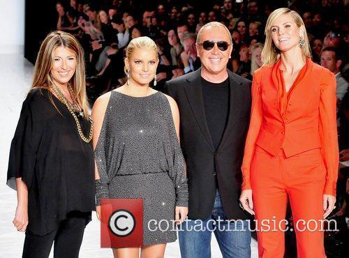 Nina Garcia, Heidi Klum, Jessica Simpson and Michael Kors 1