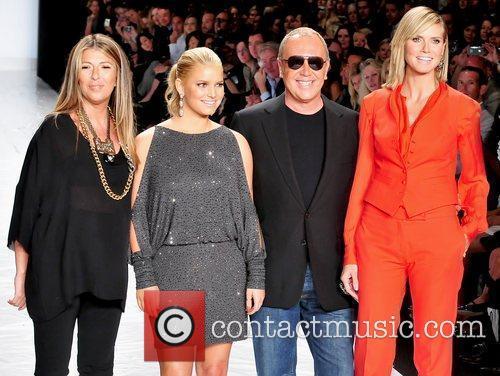 Nina Garcia, Heidi Klum, Jessica Simpson and Michael Kors 4