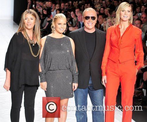 Nina Garcia, Heidi Klum, Jessica Simpson and Michael Kors 5
