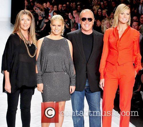 Nina Garcia, Heidi Klum, Jessica Simpson and Michael Kors 7
