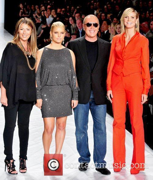 Nina Garcia, Heidi Klum, Jessica Simpson and Michael Kors 6