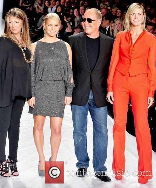 Nina Garcia, Heidi Klum, Jessica Simpson and Michael Kors 8