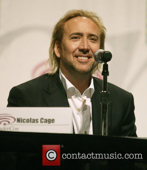 Nicolas Cage promoting the new movie 'The Sorcerer's...