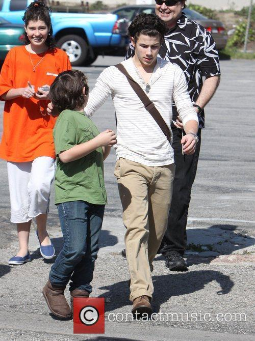 Nick Jonas and a friend out and about...