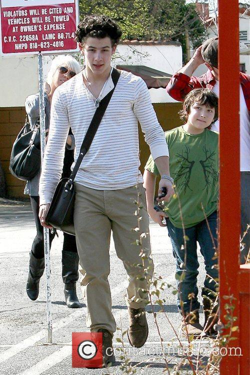 Nick Jonas and Frankie Jonas leaving Paty's restaurant...