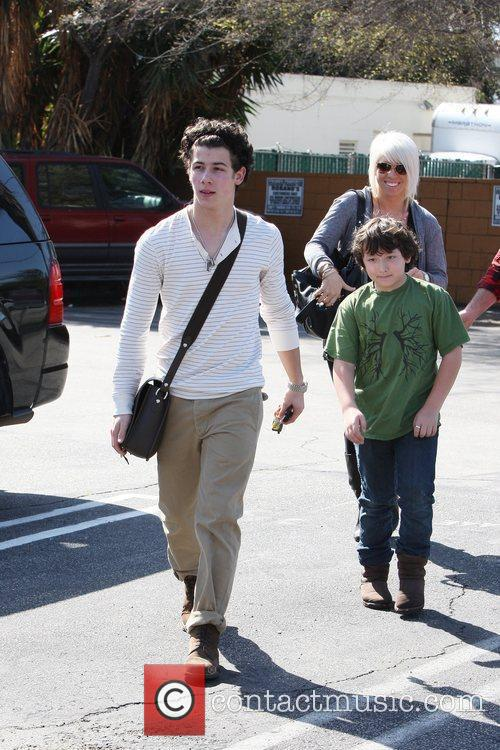 Nick Jonas and his younger brother Frankie Jonas...