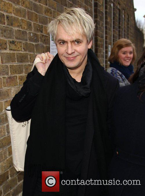 Nick Rhodes arrives at a West London studio...