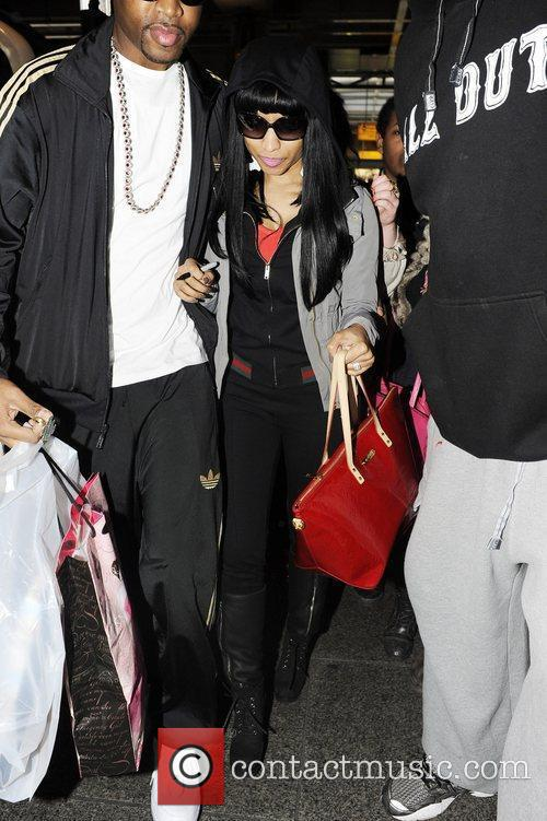 Nicki Minaj leaving Heathrow airport London, England 19.01.11