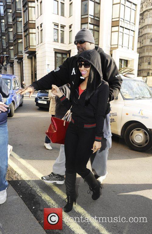 Nicki Minaj on her way to her hotel...