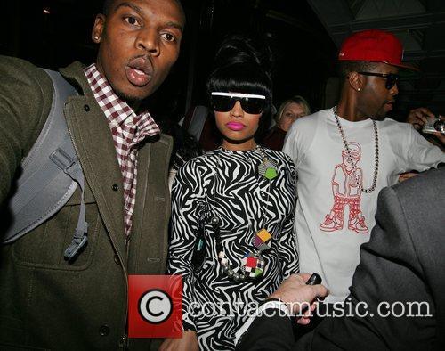 Nicki Minaj leaving the Dorchester hotel in central...