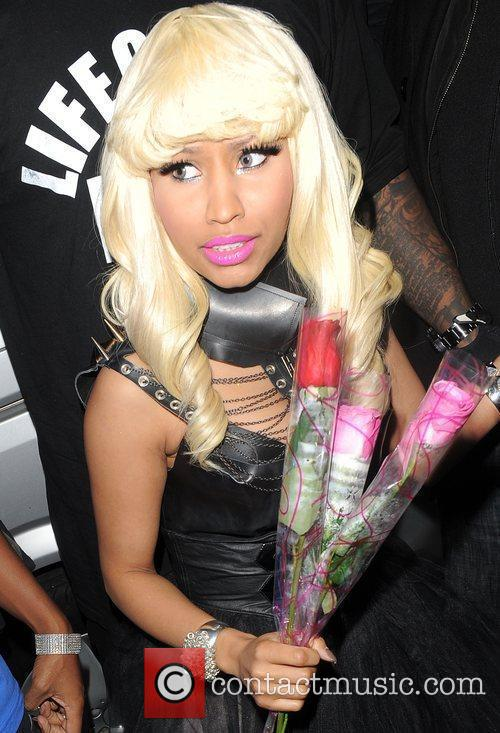 Nicki Minaj arrives at Studio Valbonne nightlcub amid...