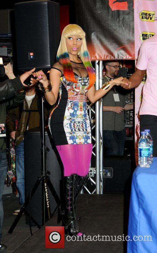 Nicki Minaj at her CD signing for Pink...