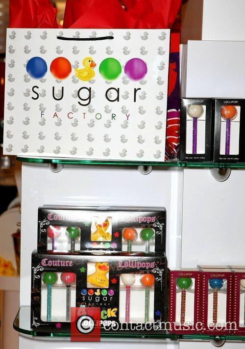 Nicky Hilton stops by The Sugar Factory inside...
