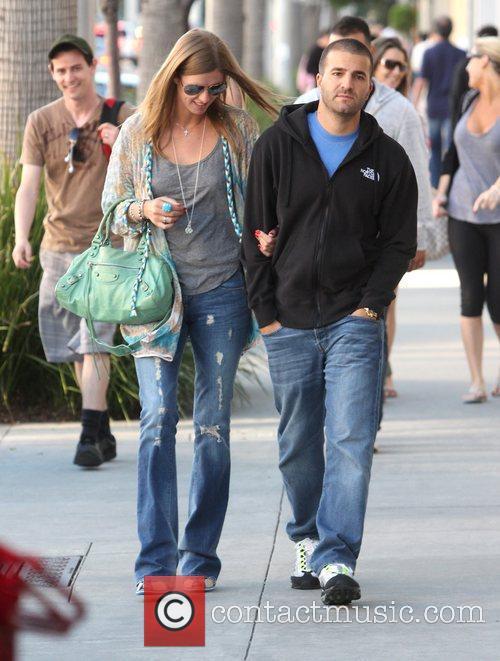 Nicky Hilton and boyfriend David Katzenberg take a...