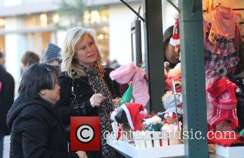 Kathy Hilton shopping with her daughter at The...
