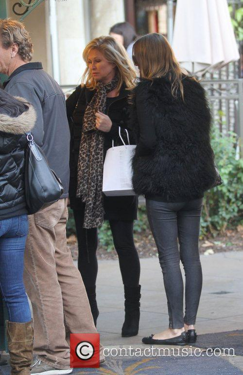 Nicky Hilton and Kathy Hilton shopping at The...