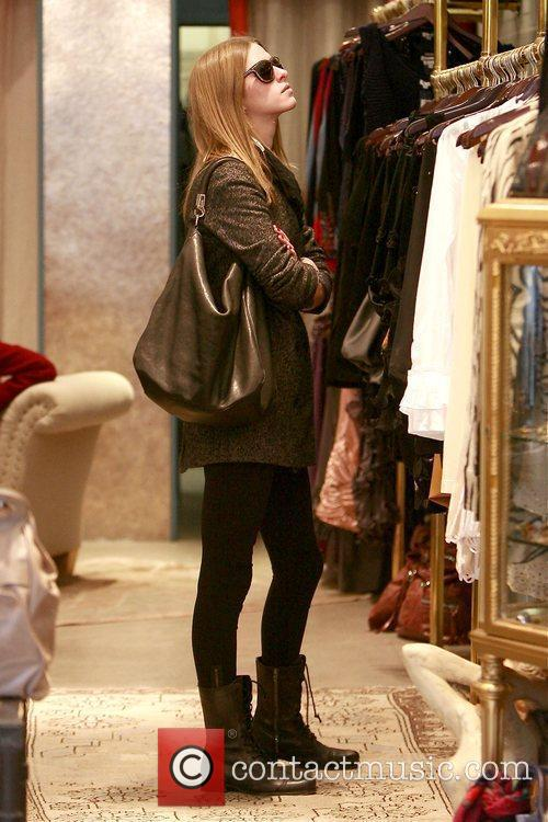 Nicky Hilton shopping on Melrose Avenue in West...