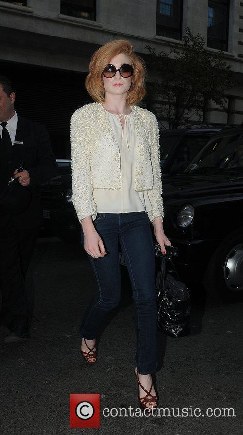 Nicola Roberts arriving at the May Fair hotel....