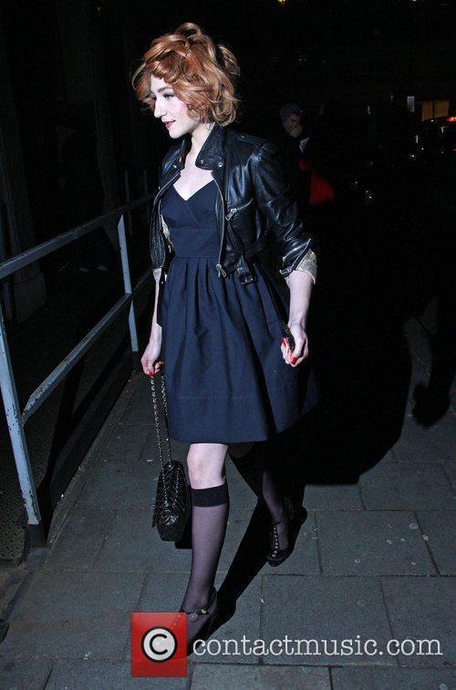 Nicola Roberts arriving at Radio 1