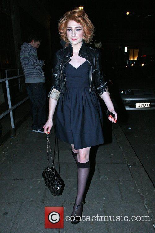 Nicola Roberts arriving at Radio 1 London, England