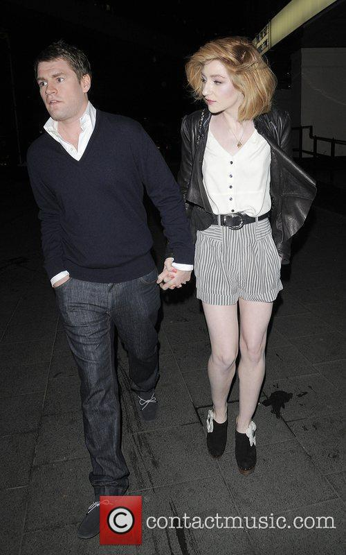 Nicola Roberts and her boyfriend Charlie Fennell leaving...