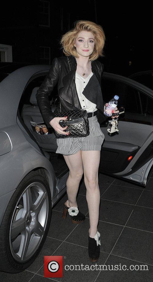 Nicola Roberts from pop group Girls Aloud arriving...