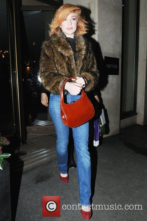 Nicola Roberts leaving Mayfair after shopping