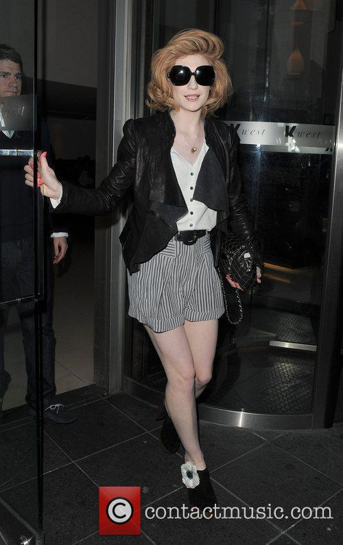 Nicola Roberts from pop group Girls Aloud, leaves...