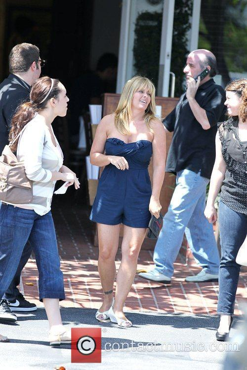 Nicole Eggert shopping with friends at Fred Segal...