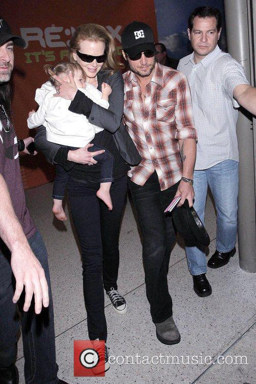 Nicole Kidman and Keith Urban with their daughter,...
