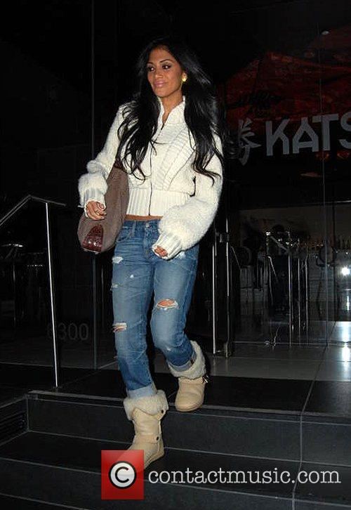 Nicole Scherzinger leaves Katsuya restaurant in Hollywood Los...