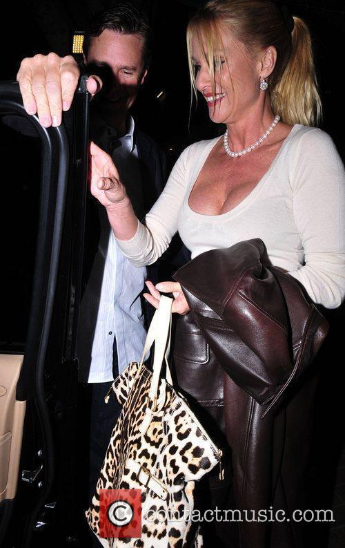 Nicollette Sheridan  leaving Madeo restaurant in Beverly...