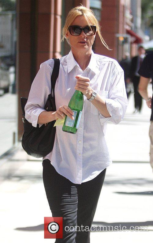 Leaving Anastacia with sparkling water in Beverly Hills