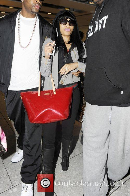 Nicki Minaj arriving at Heathrow airport London, England...