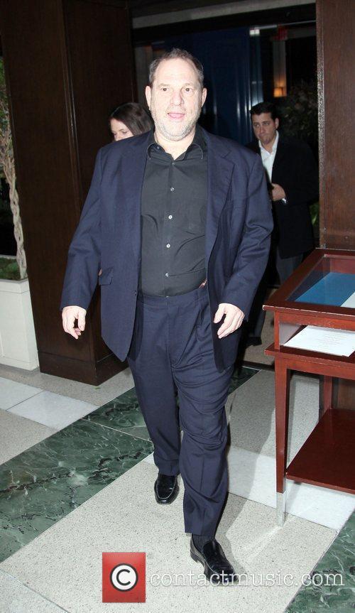 Harvey Weinstein  leaving The Weinstein Company's 'NINE'...