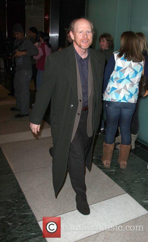Film Director Ron Howard  leaving The Weinstein...