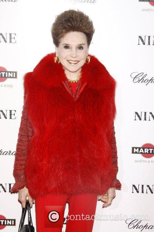 Cindy Adams New York premiere of 'Nine' sponsored...
