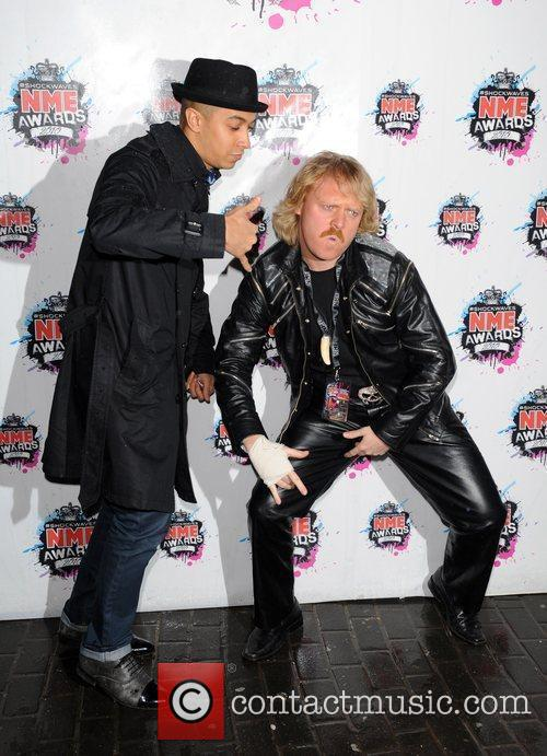 Jade Jones and Leigh Francis Shockwaves NME Awards...
